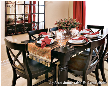 ... Amherst Dining Table U0026 Aaron Chairs ...